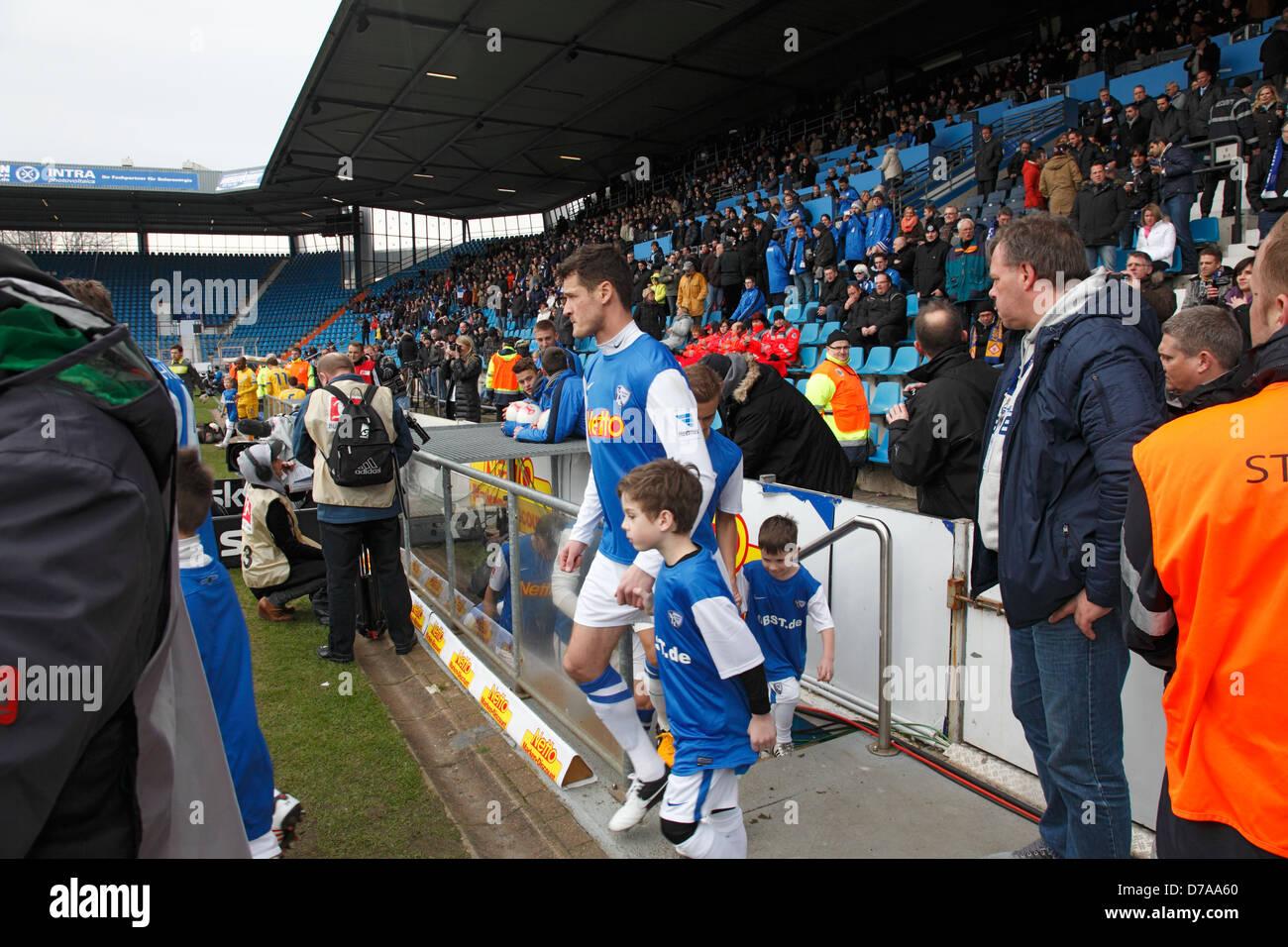 sports, football, 2. Bundesliga, German second league, 2012/2013, VfL Bochum versus Eintracht Brunswick 0:1, rewirpowerstadion - Stock Image