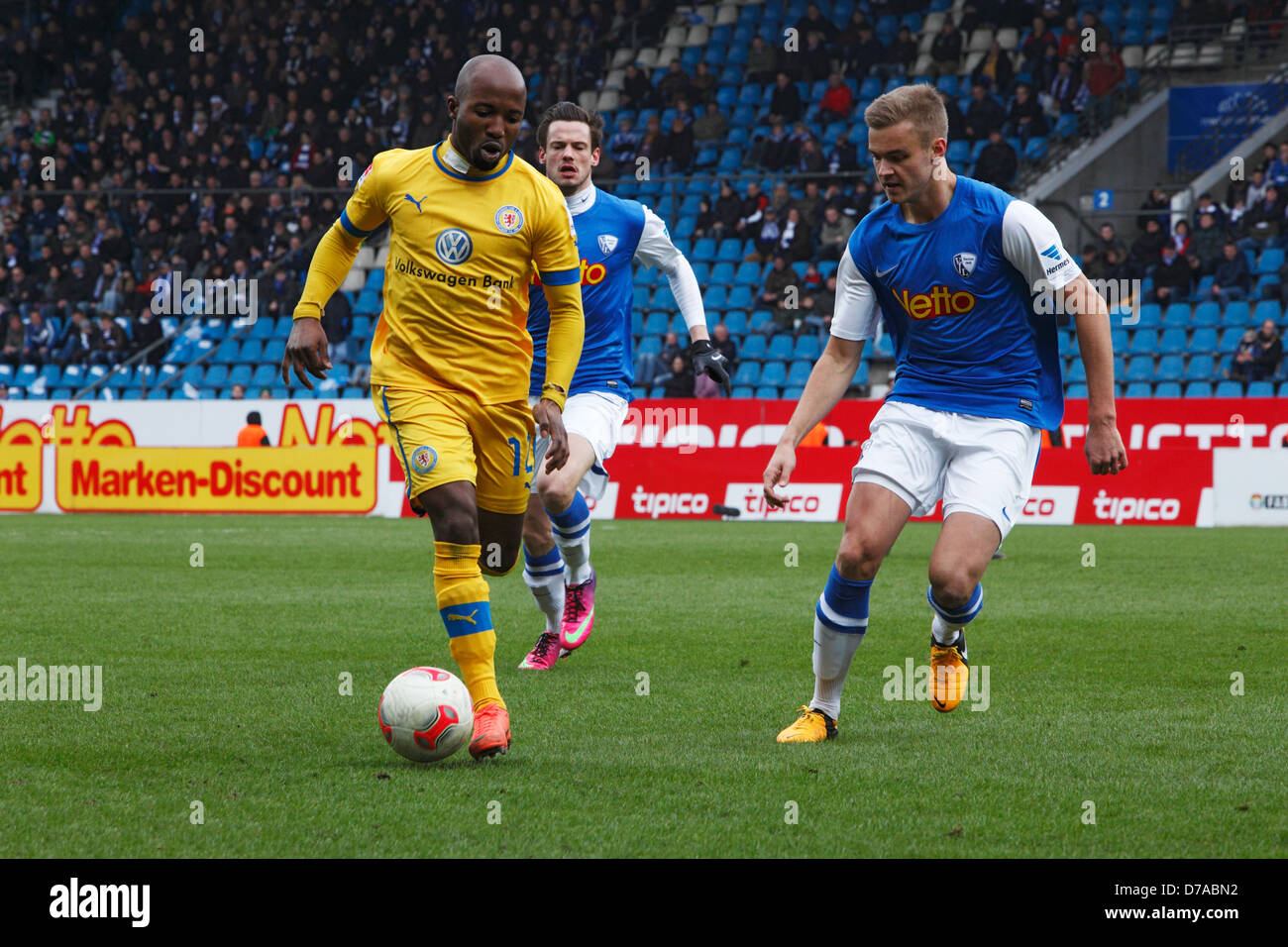 sports, football, 2. Bundesliga, German second league, 2012/2013, VfL Bochum versus Eintracht Brunswick 0:1, rewirpowerstadion - Stock Image