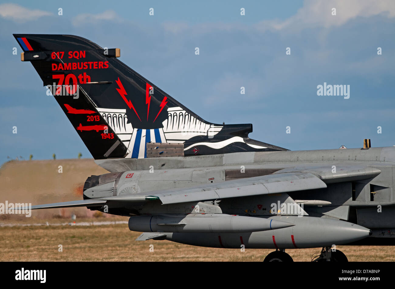 The Specially Painted Tornado GR4 Of 617 Dambusters Sqn At RAF Lossiemouth SCO 9010