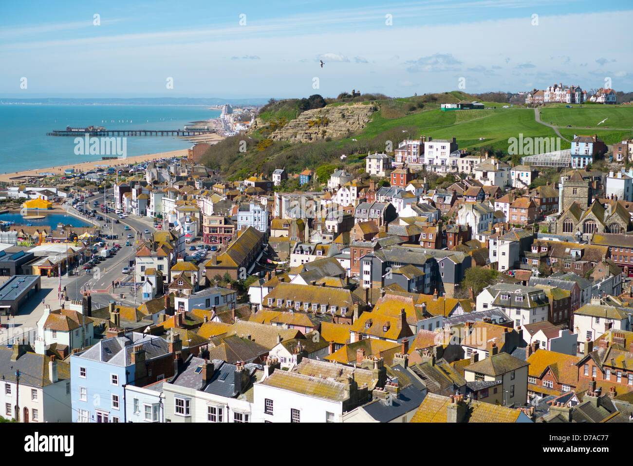 Old town, West Hill, Hastings, Sussex, England - Stock Image
