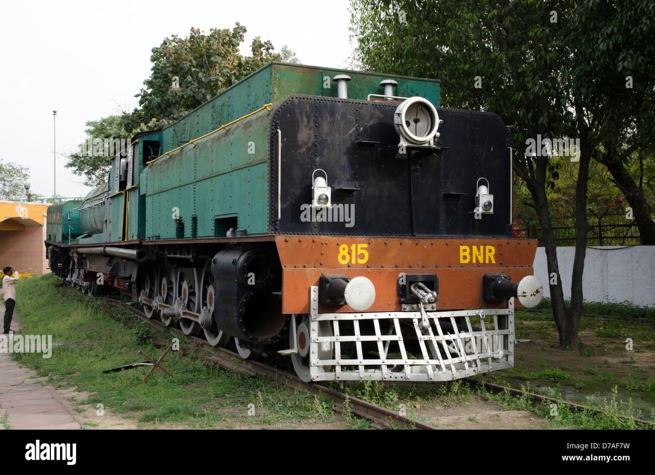 steam locomotive class N 815 beyer-peacock national railway museum chanakyapuri new delhi india - Stock Image