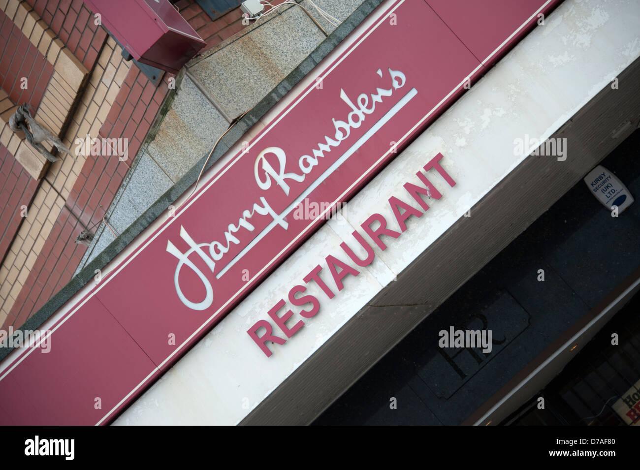 Harry Ramsden Fish & Chips Restaurant Blackpool UK Stock Photo
