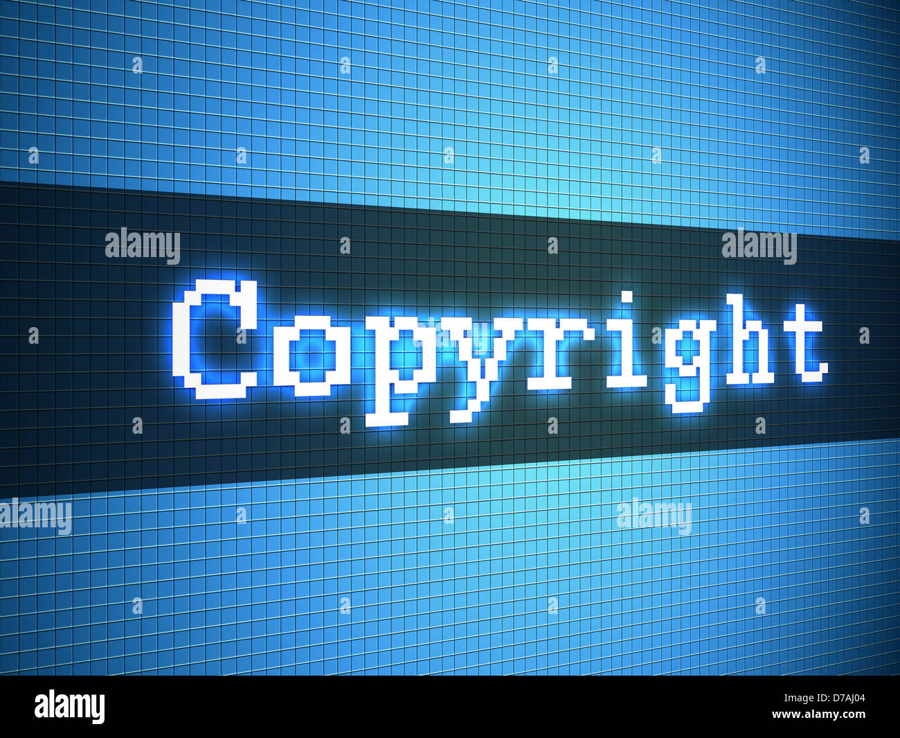 Copyright word on lcd-styled display Stock Photo: 56167332