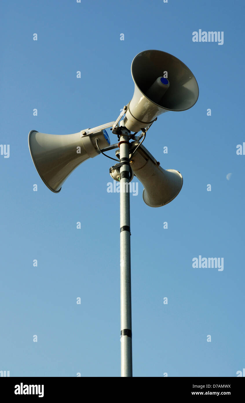 Public address system. Stock Photo