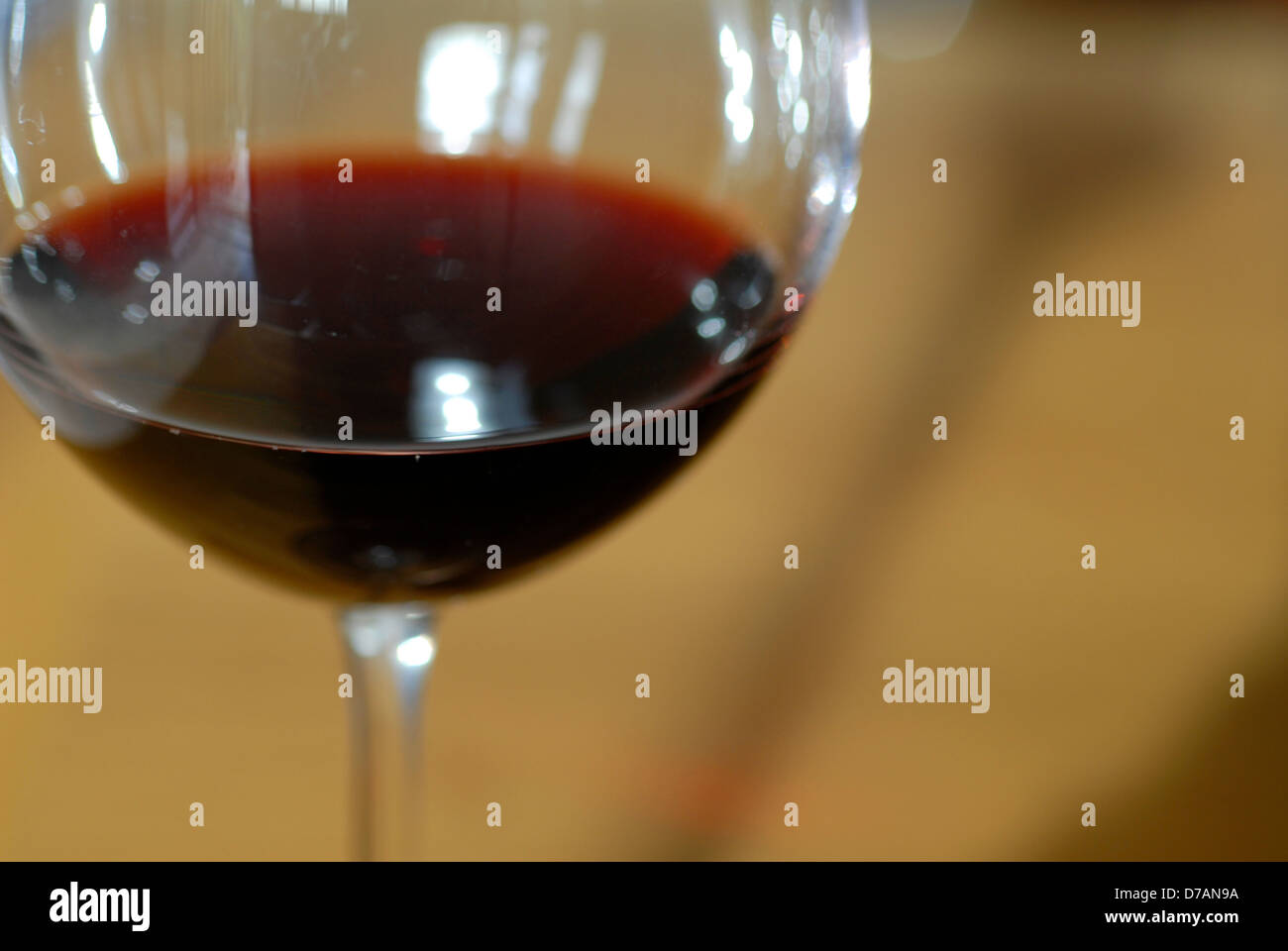 A glass of red wine. Stock Photo