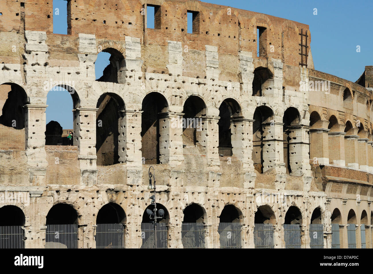 close up of the colosseum, symbol of the roman empire, rome italy Stock Photo