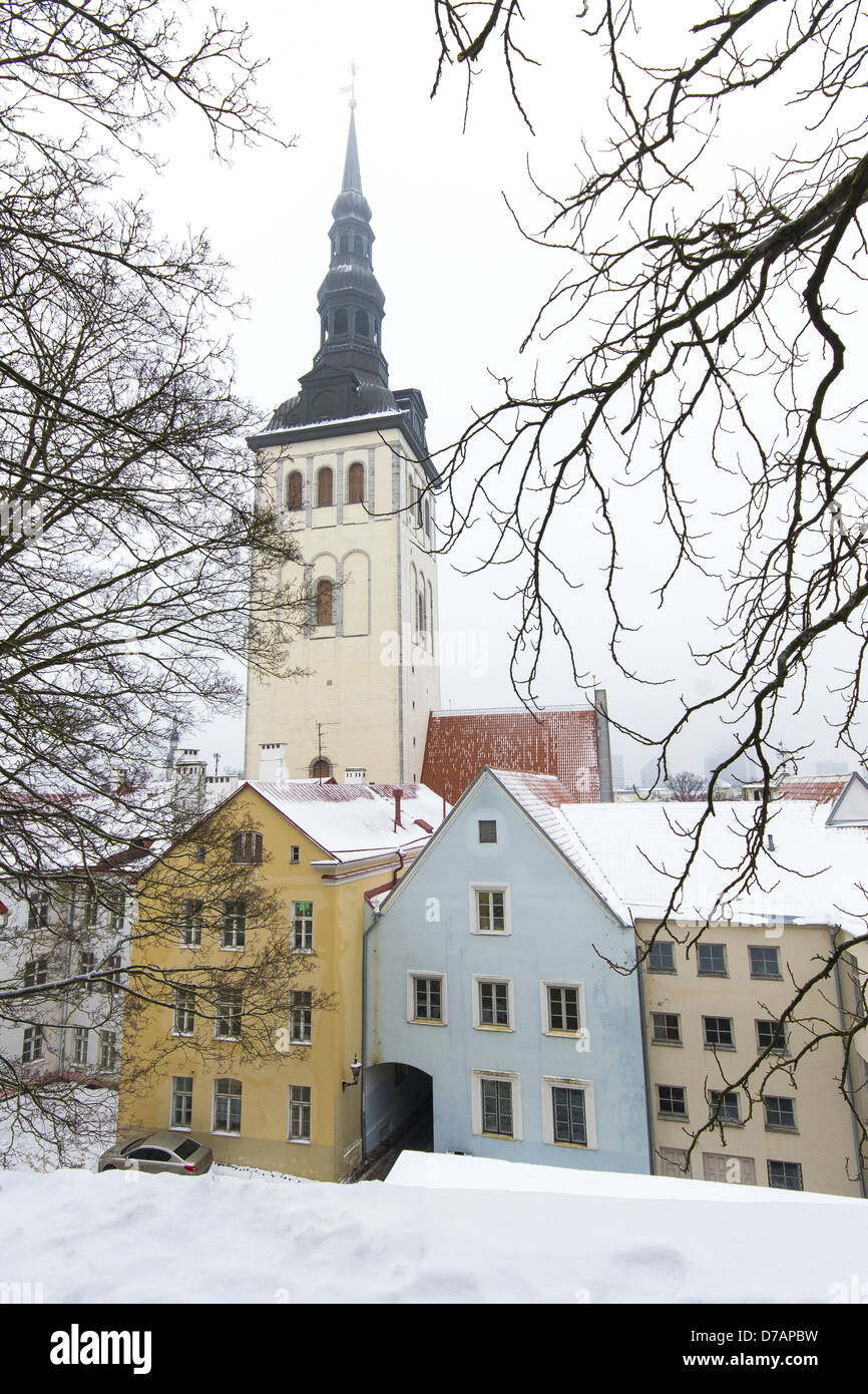 The St. Nicholas church in Old Town, Tallinn, Estonia - Stock Image