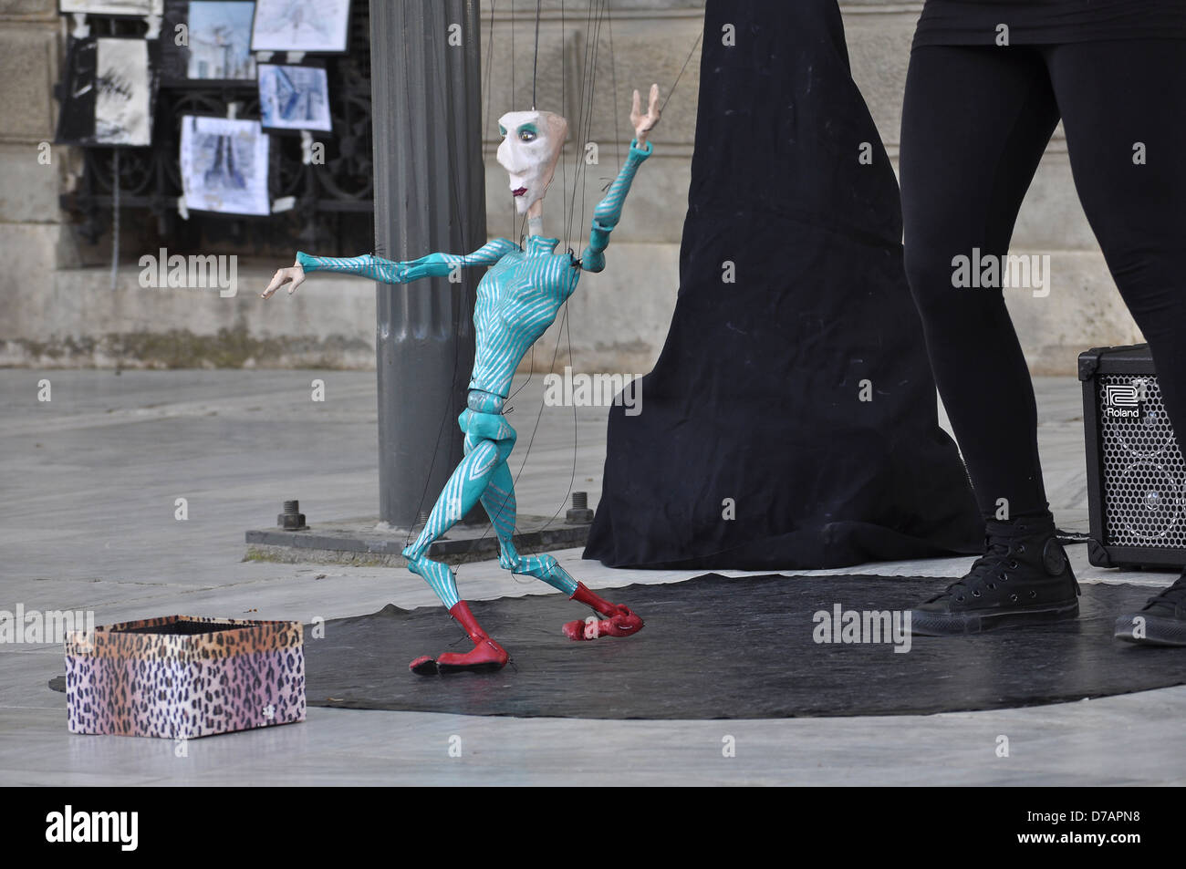 marionette dancing in athens greece stock photo 56171060 alamy