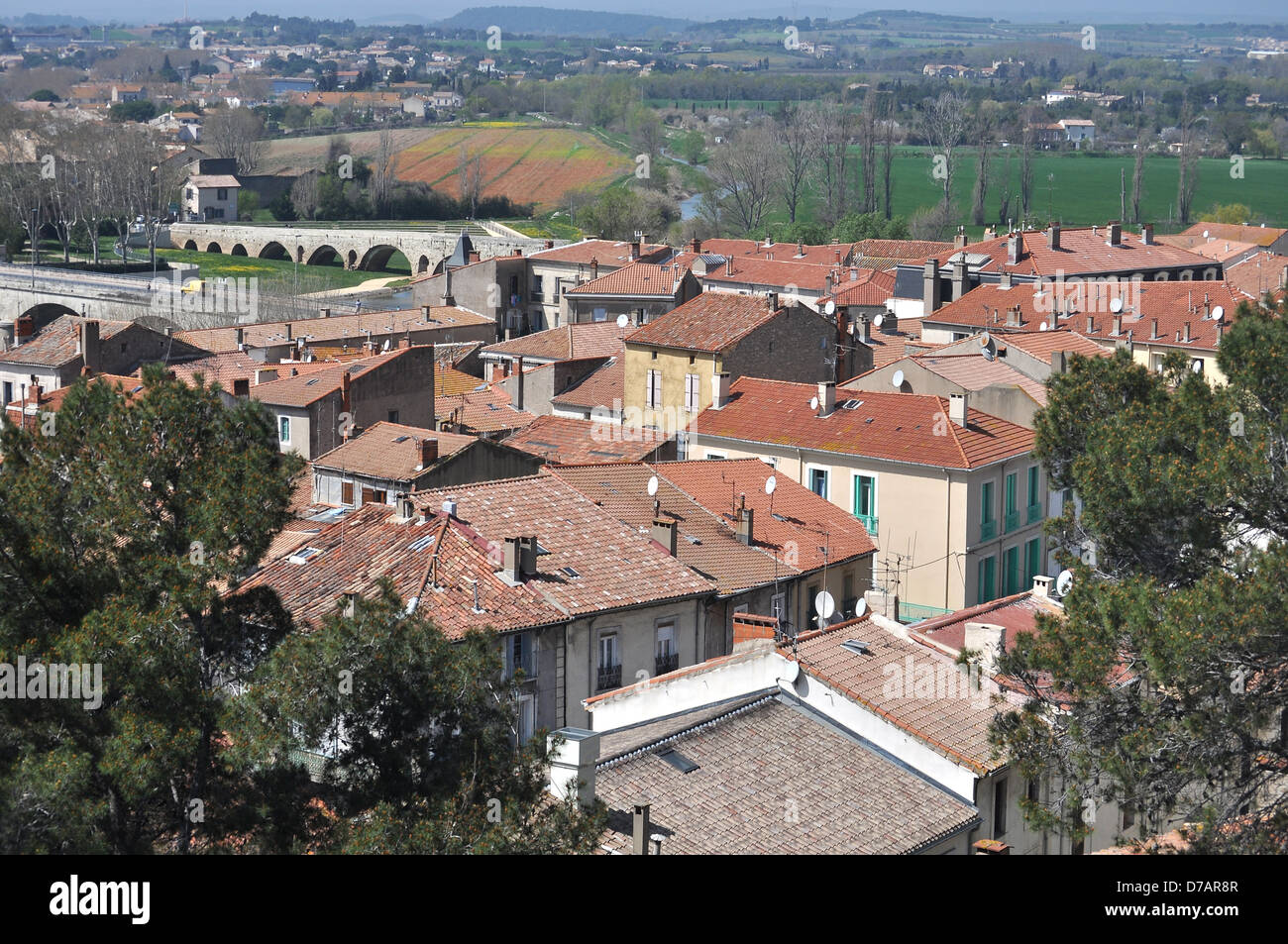View of Beziers in France Stock Photo