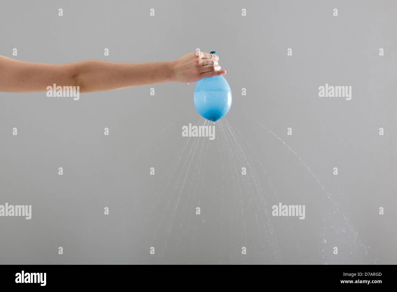 blue baloon - Stock Image