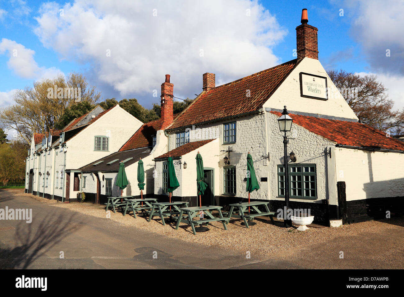 Lifeboat Inn and Hotel, Thornham, Norfolk, England UK, English hotels inns - Stock Image