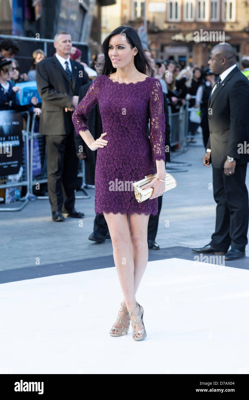Linzi Stoppard attends the International Premiere of Star Trek Into Darkness on 02/05/2013 at The Empire Leicester - Stock Image