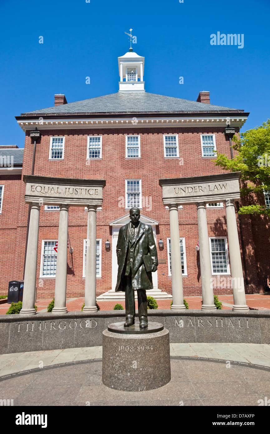 Thurgood Marshall Memorial In Annapolis, Maryland - Stock Image