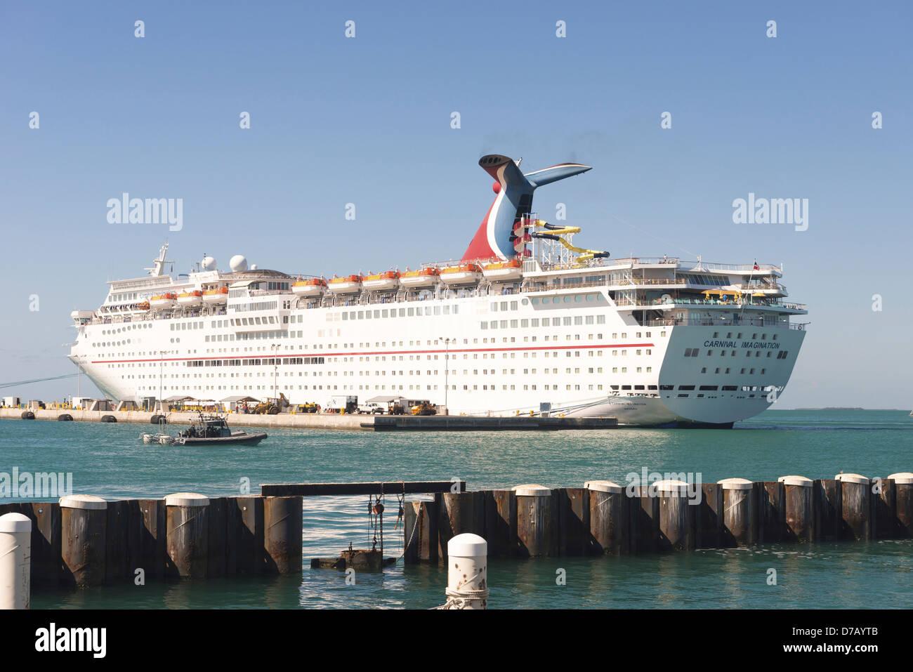 Carnival Imagination, Key West, Florida Keys, Florida, - Stock Image