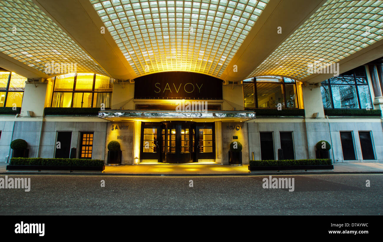 The Savoy Hotel - Stock Image