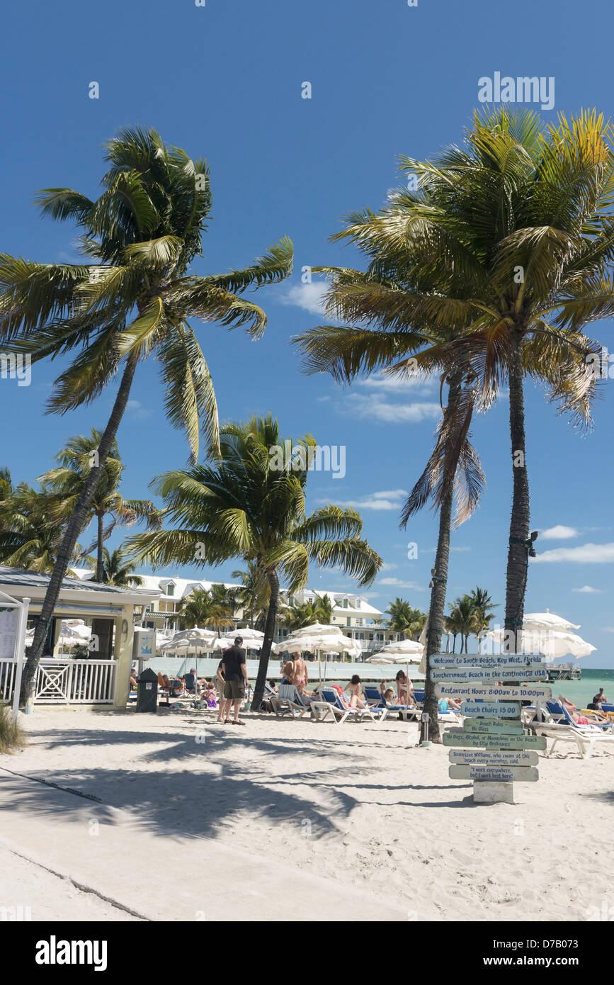 South, Beach, Key West, Florida, USA, - Stock Image