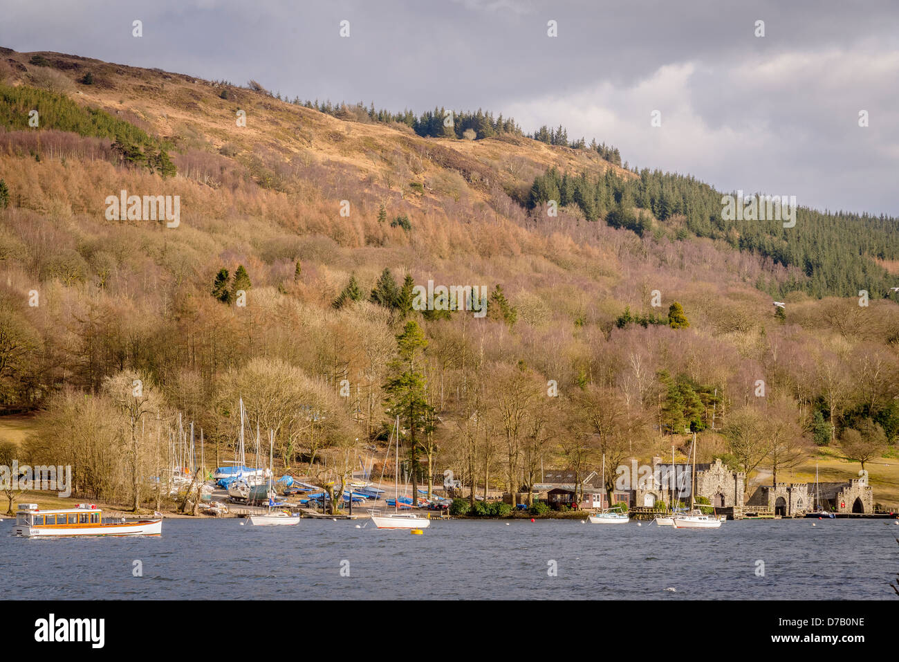 Fell Foot Park on lake Windermere. - Stock Image