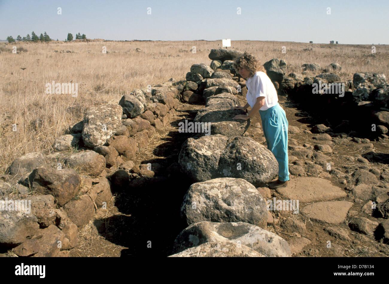 Rasm Harbush site of the Calcolithic period - Stock Image