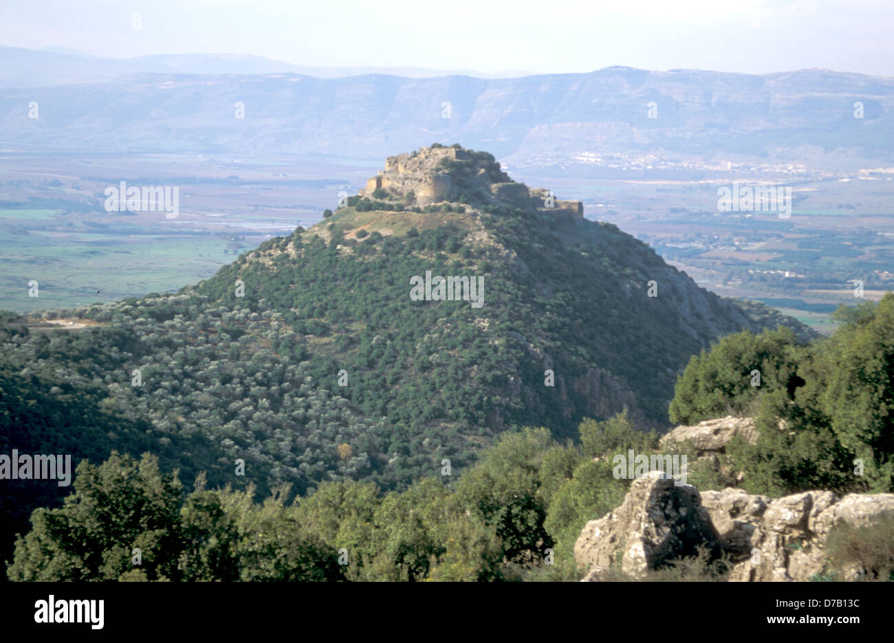 The Crusader Fortress Of Qalat Nimrud In The Golan - Stock Image