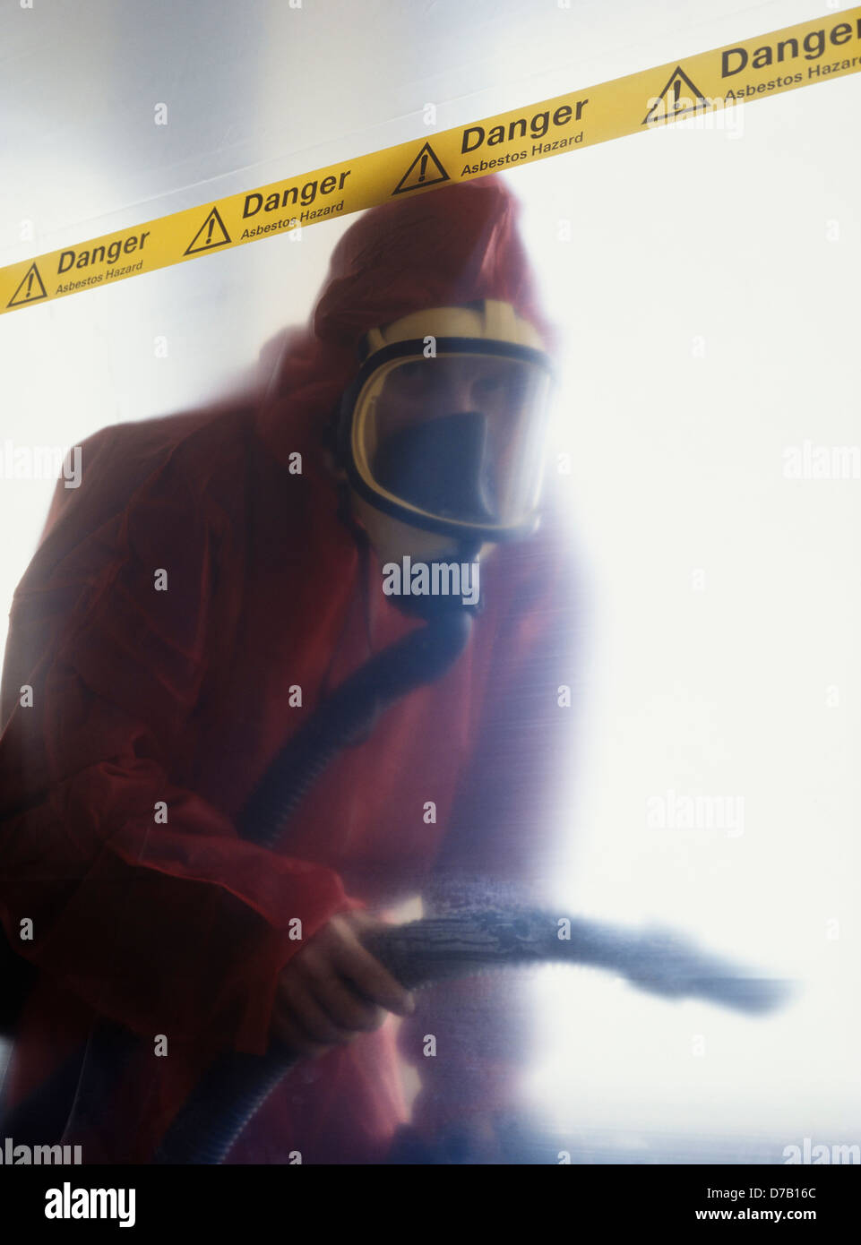 Asbestos removal worker, UK - Stock Image