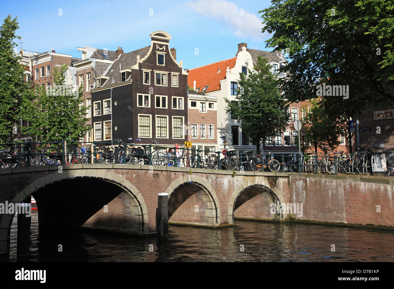 The Netherlands, 17th century canal ring area of Amsterdam, UNESCO World Heritage - Stock Image