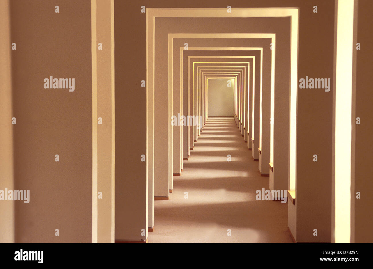Hallway in the supreme court building in Jerusalem - Stock Image