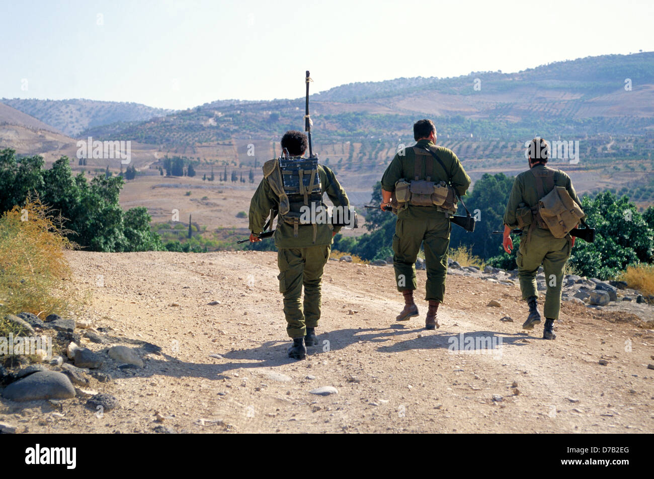 military patrol in the Golan Heights - Stock Image