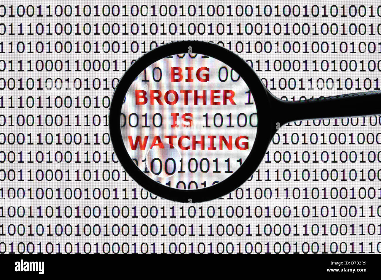 Big brother is watching - Stock Image