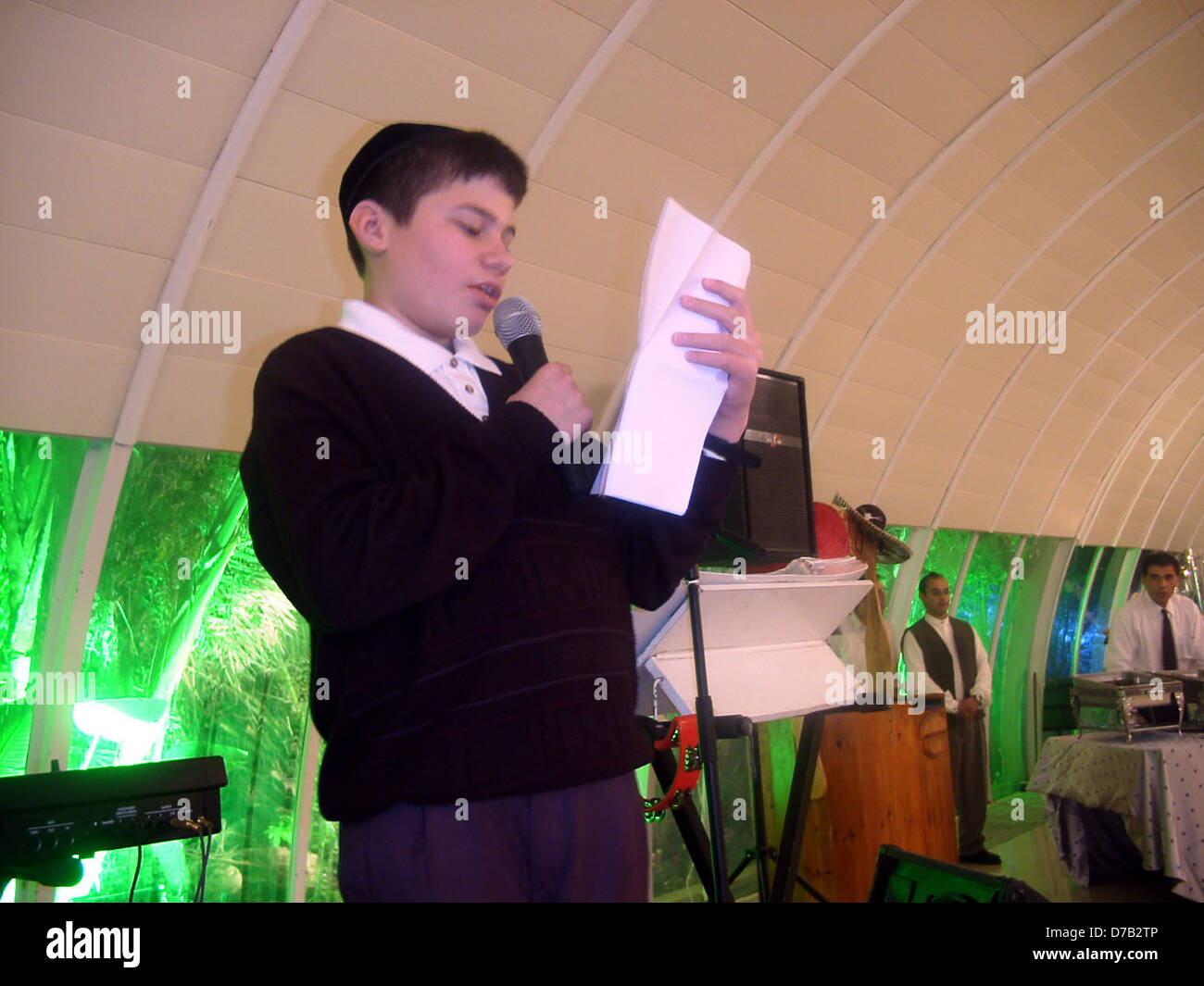 bar mitzvah boy - Stock Image