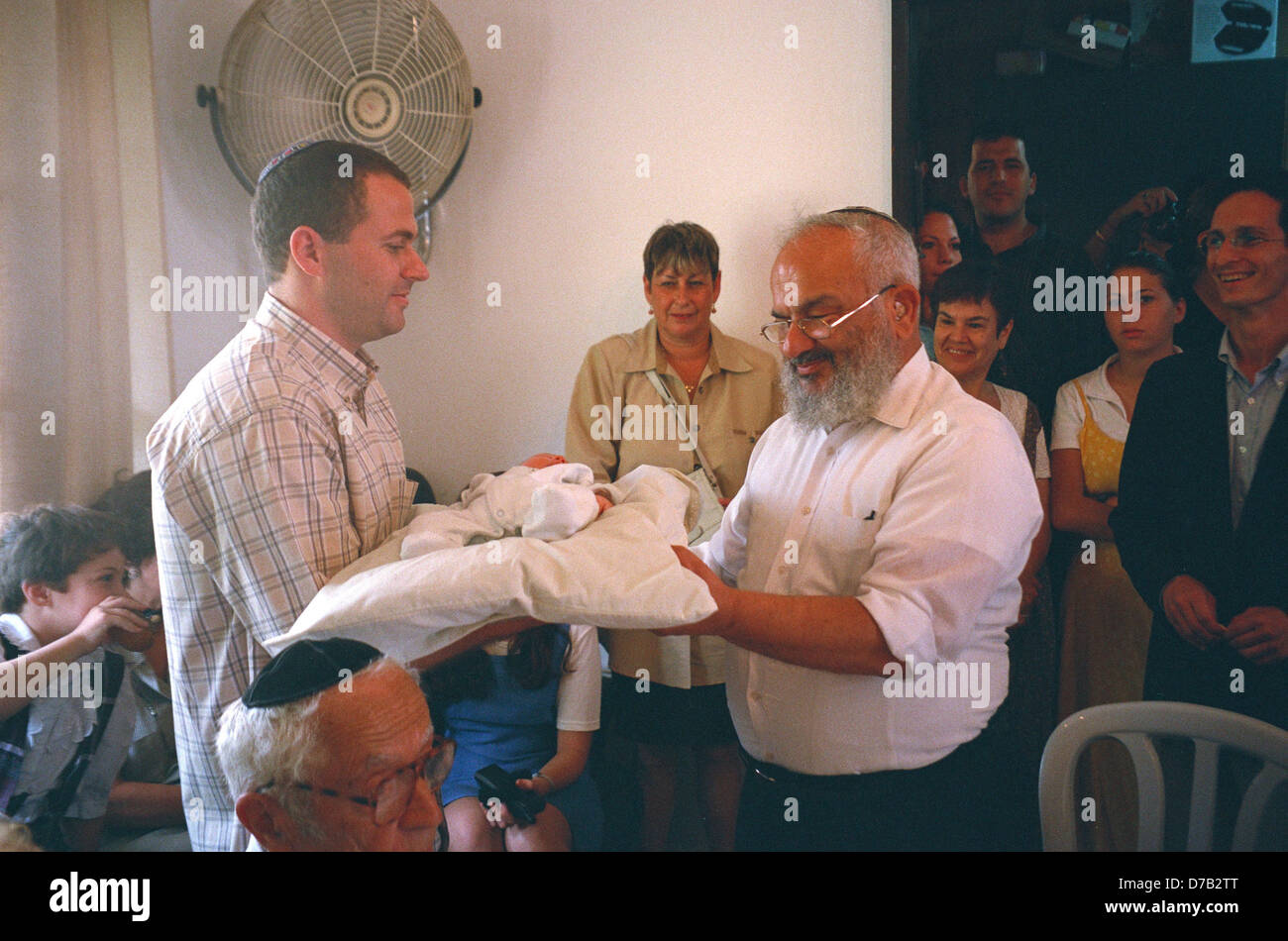 Ceremony of Redemption of The First Born Son - Stock Image
