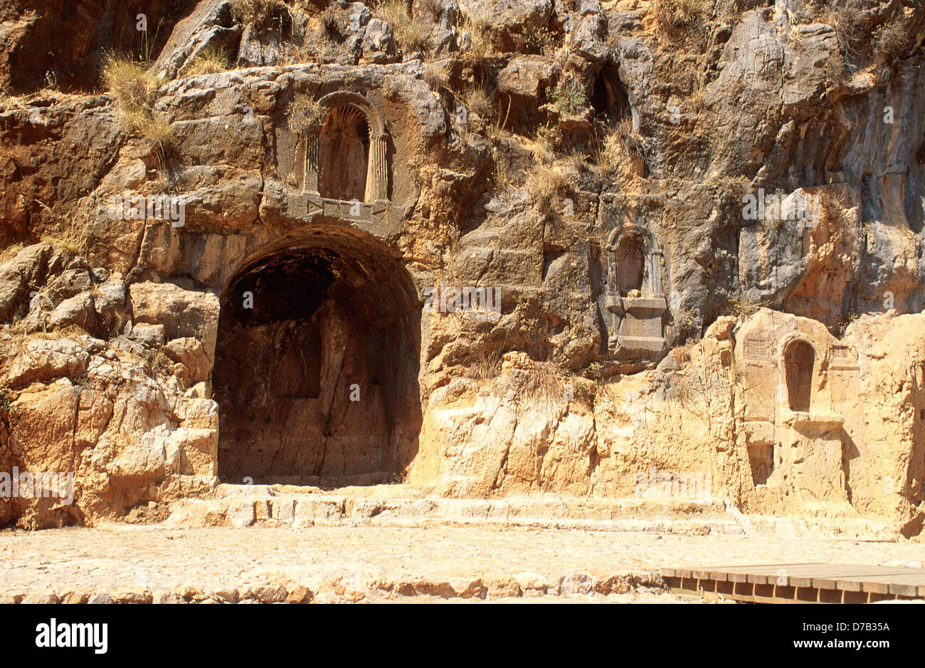 Banias Archaeology in the golan - Stock Image