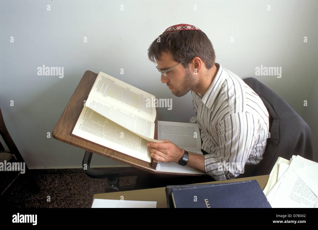yeshiva student in efrat, gush etzion - Stock Image