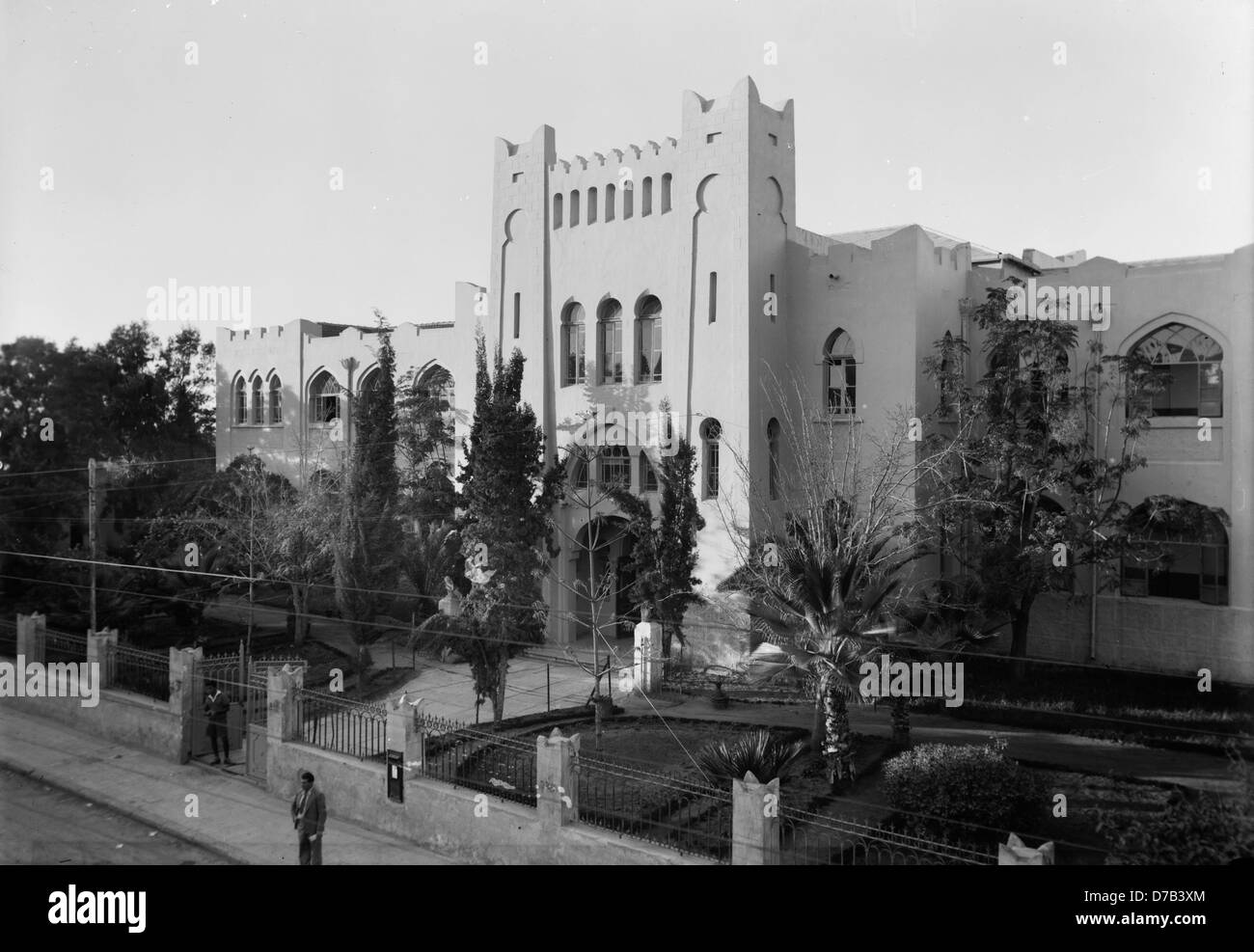 Herzliya Hebrew High School in tel aviv, 1936 - Stock Image