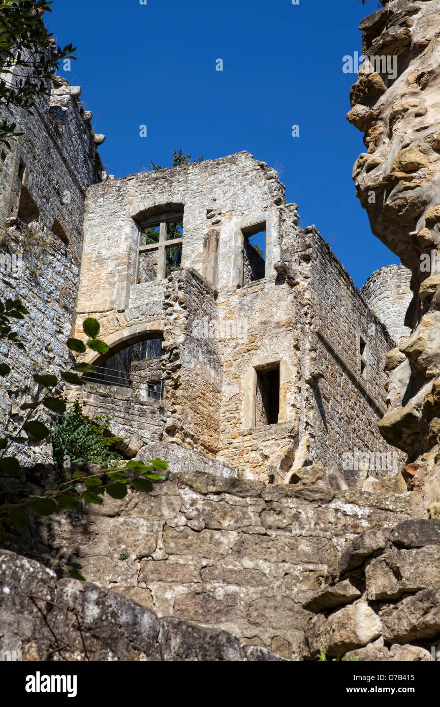 Castle ruins of Beaufort or Belfort, Luxembourg, Europe - Stock Image