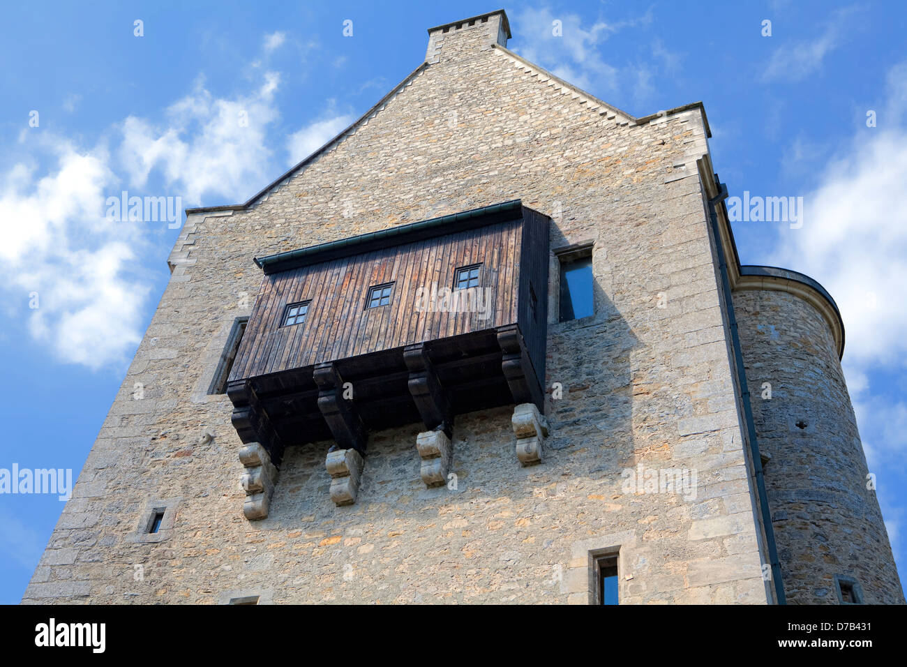 Burg Fels or Fiels Castle, Larochette, 11th century, Grand Duchy of Luxembourg, Europe, - Stock Image