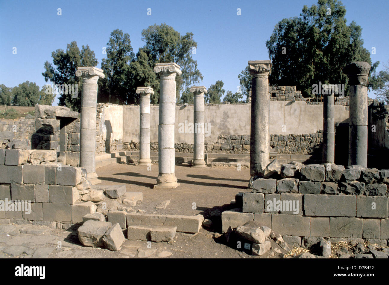 The Ancient Synagogue At kazerin - Stock Image