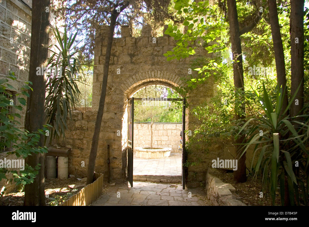 gate to the house of harav Abraham Isaac Hacohen Kook in jerusalem - Stock Image