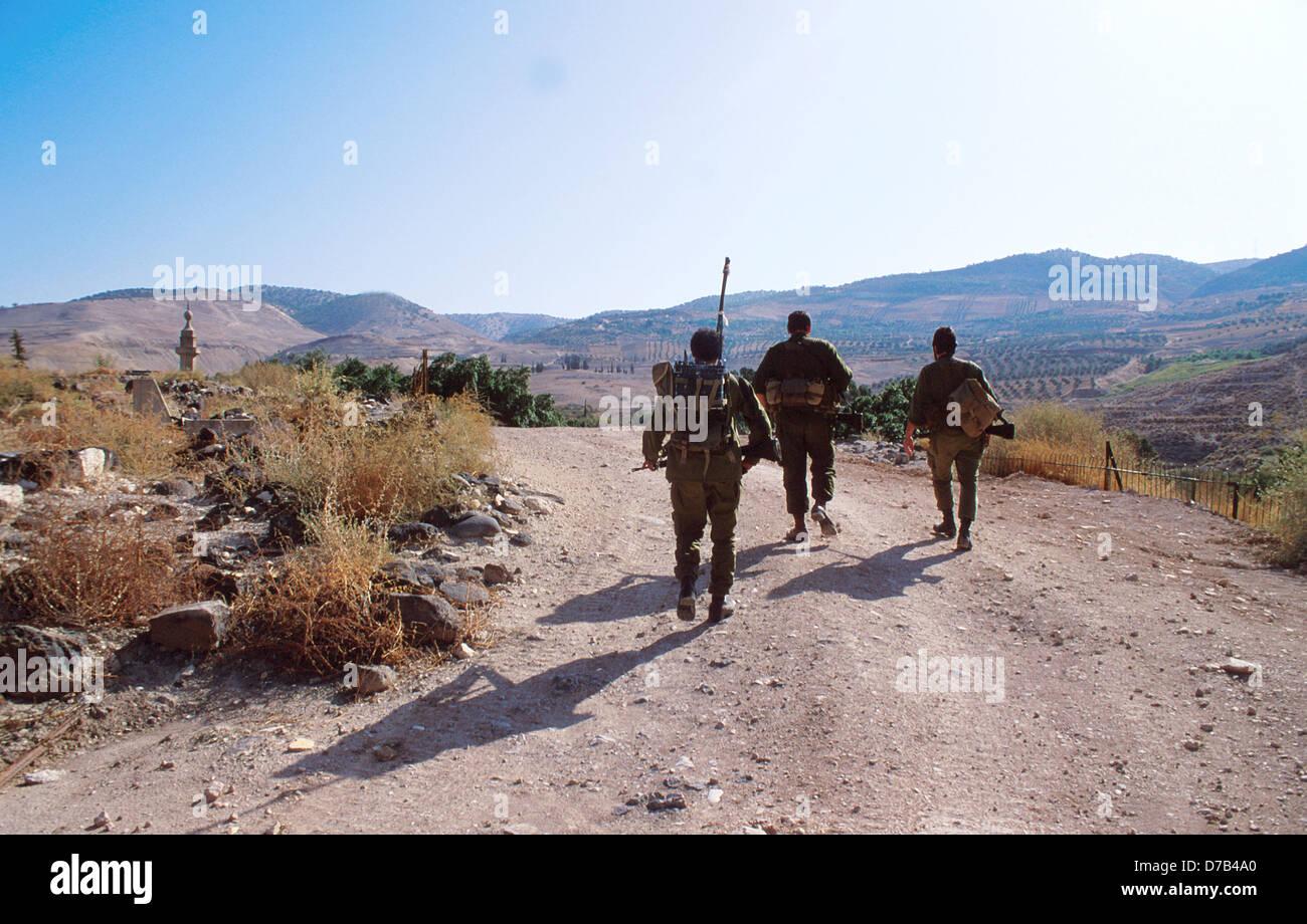 military patrol near hammat gader - Stock Image