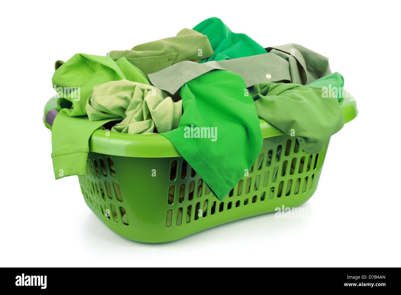 Green laundry - Stock Image