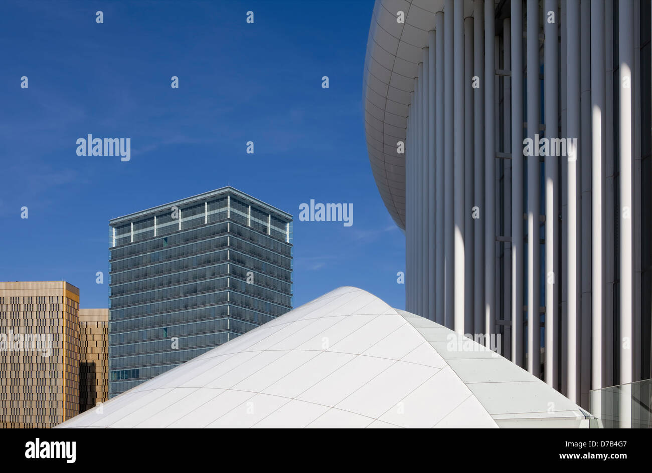 The Philharmonic Hall, Place de l'Europe, European quarter, Kirchberg plateau, Luxembourg City, Europe, Stock Photo