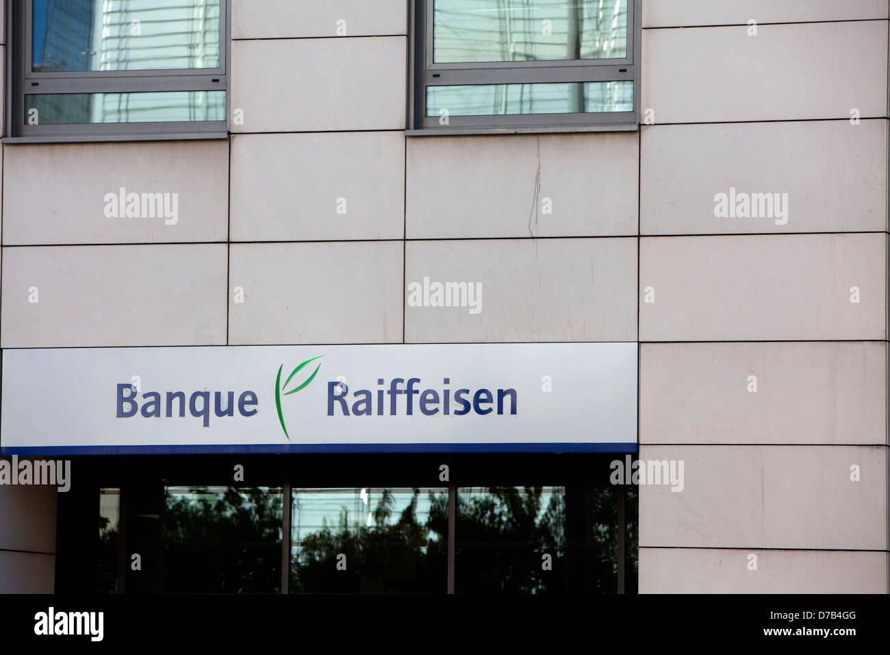Building of the Banque Raiffeisen bank, Luxembourg branch, Luxembourg City, Europe - Stock Image