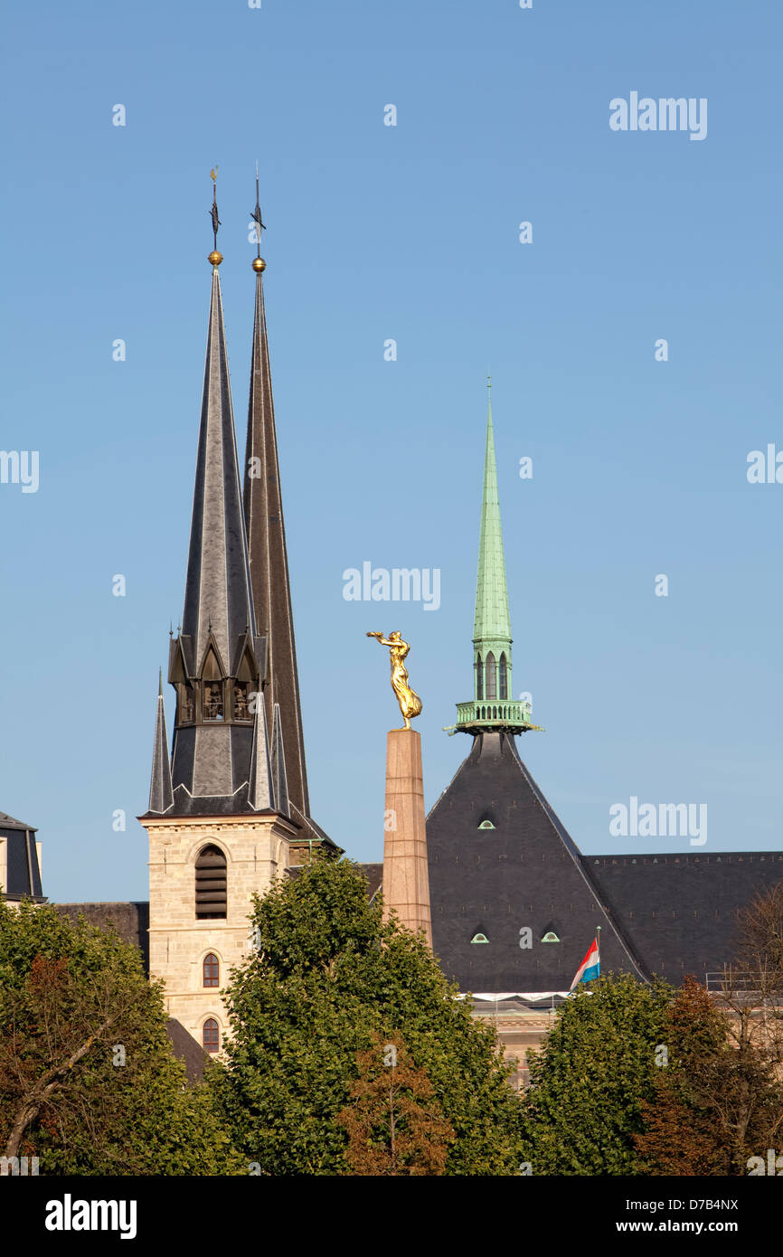 Notre Dame Cathedral, Luxembourg, Europe - Stock Image