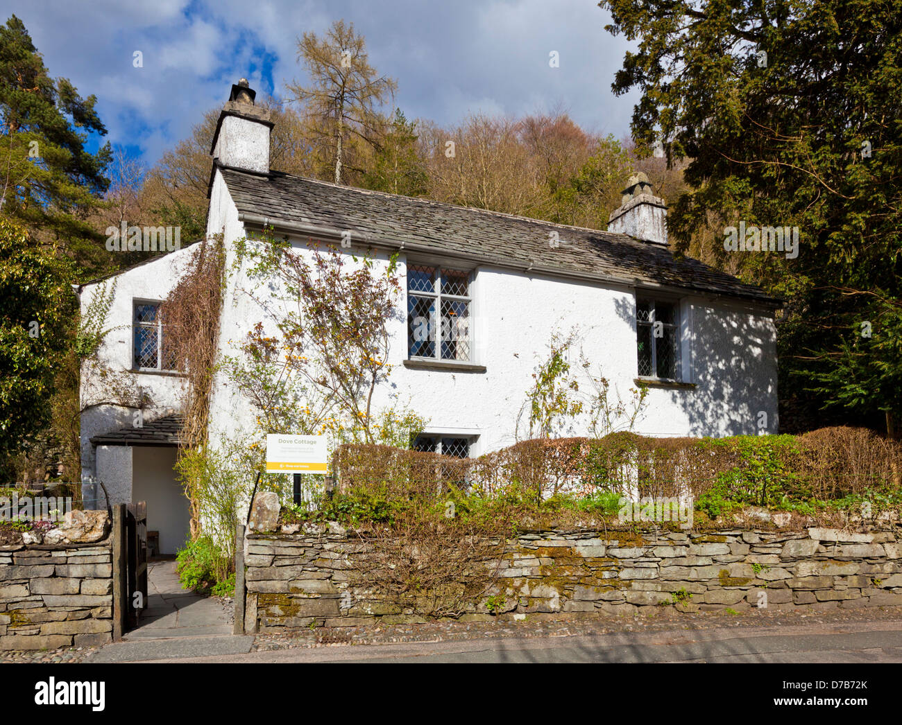 Dove cottage in Grasmere Village Cumbria Lake District England UK GB EU Europe - Stock Image