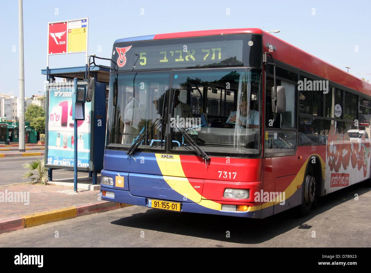 dan bus in tel aviv - Stock Image