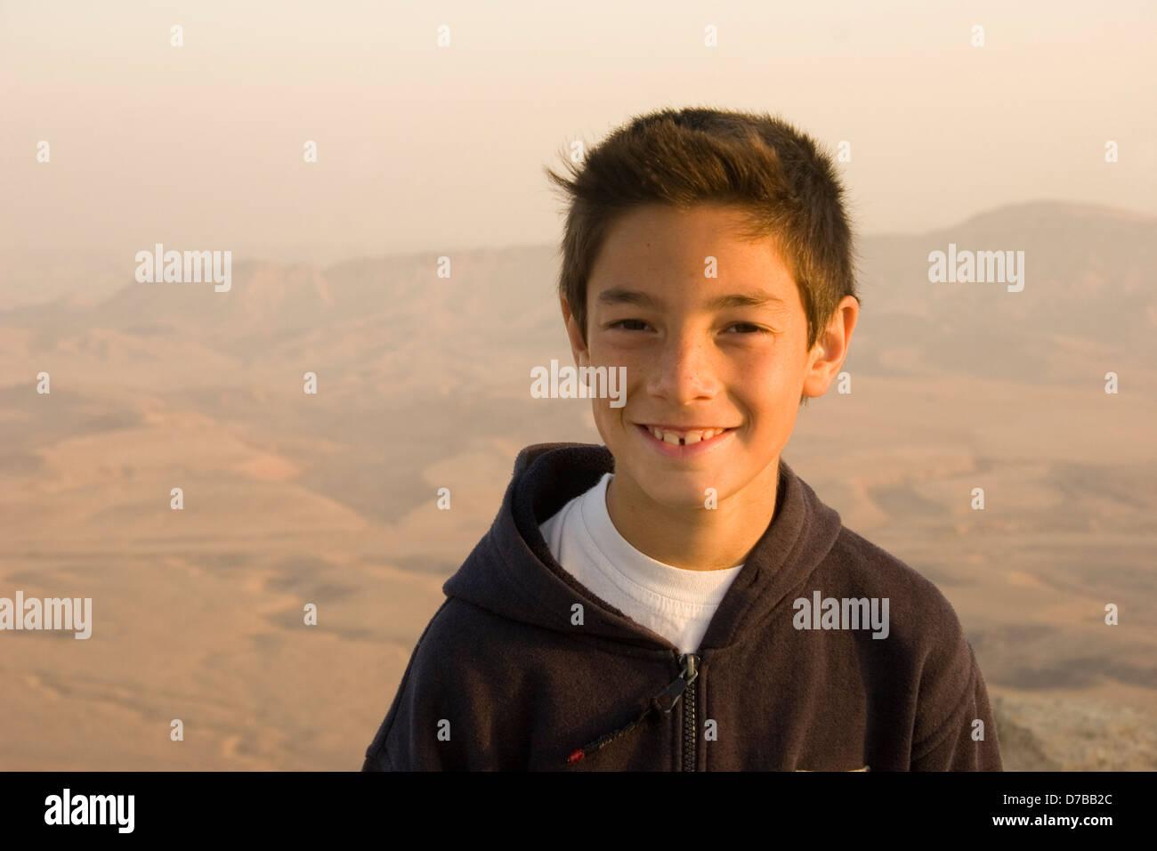 Israeli boy age 9 - Stock Image
