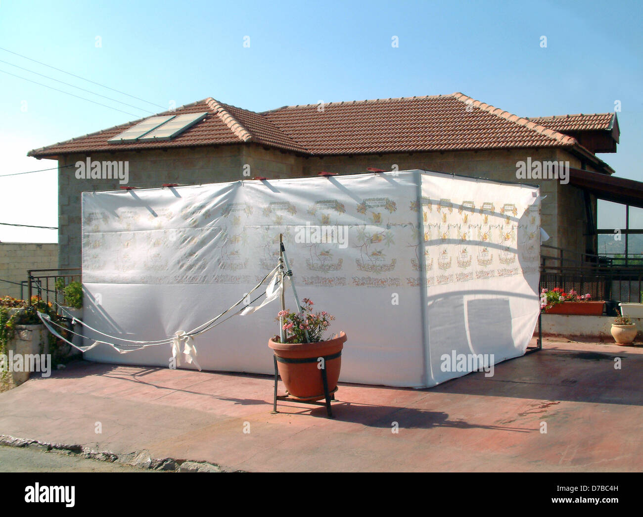 Sukkah in Mevaseret Zion - Stock Image