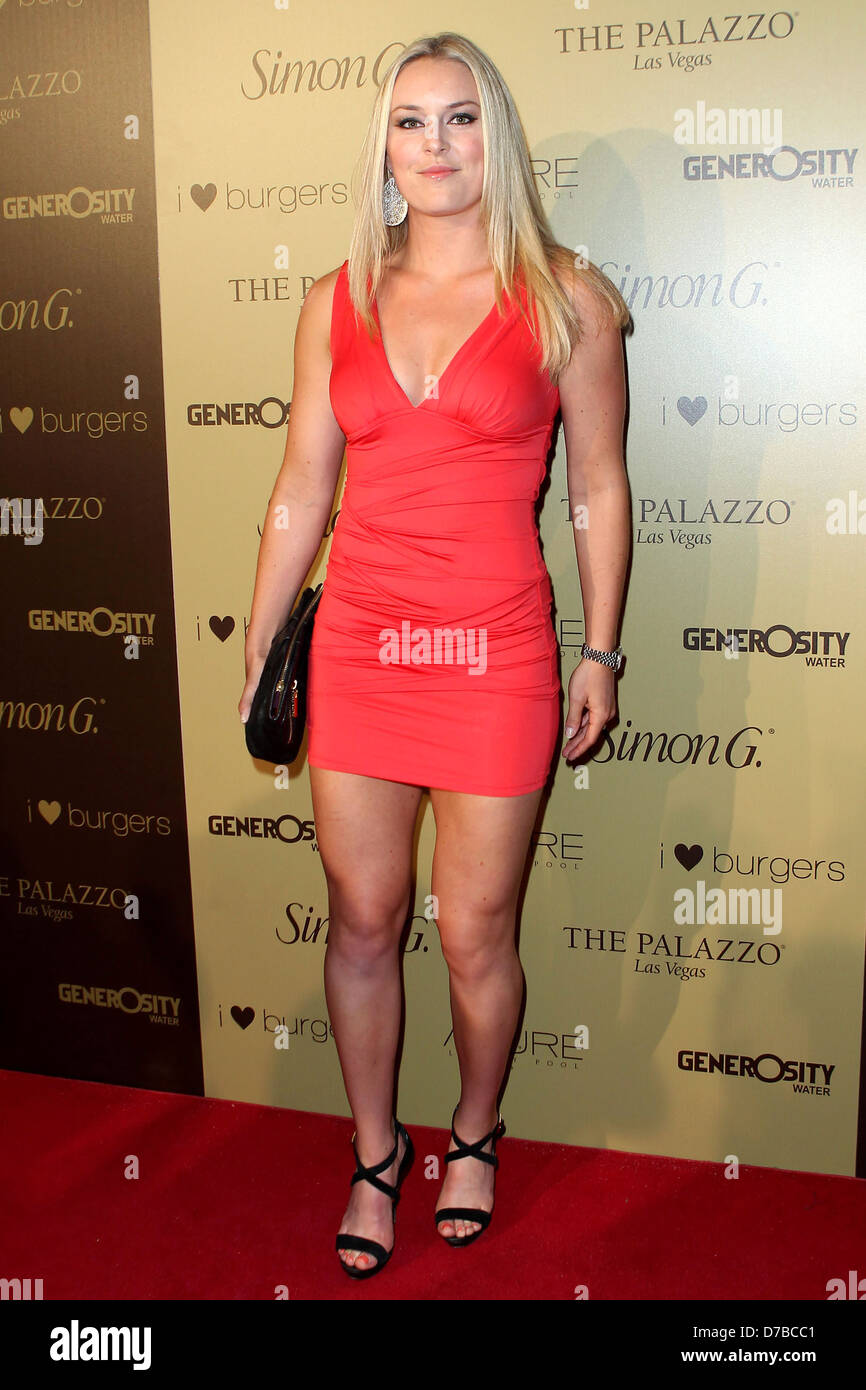 "Lindsey Vonn Legs >> Lindsey Vonn Simon G ""Summer Soiree"" at The Palazzo Resort and Casino Stock Photo: 56184913 - Alamy"