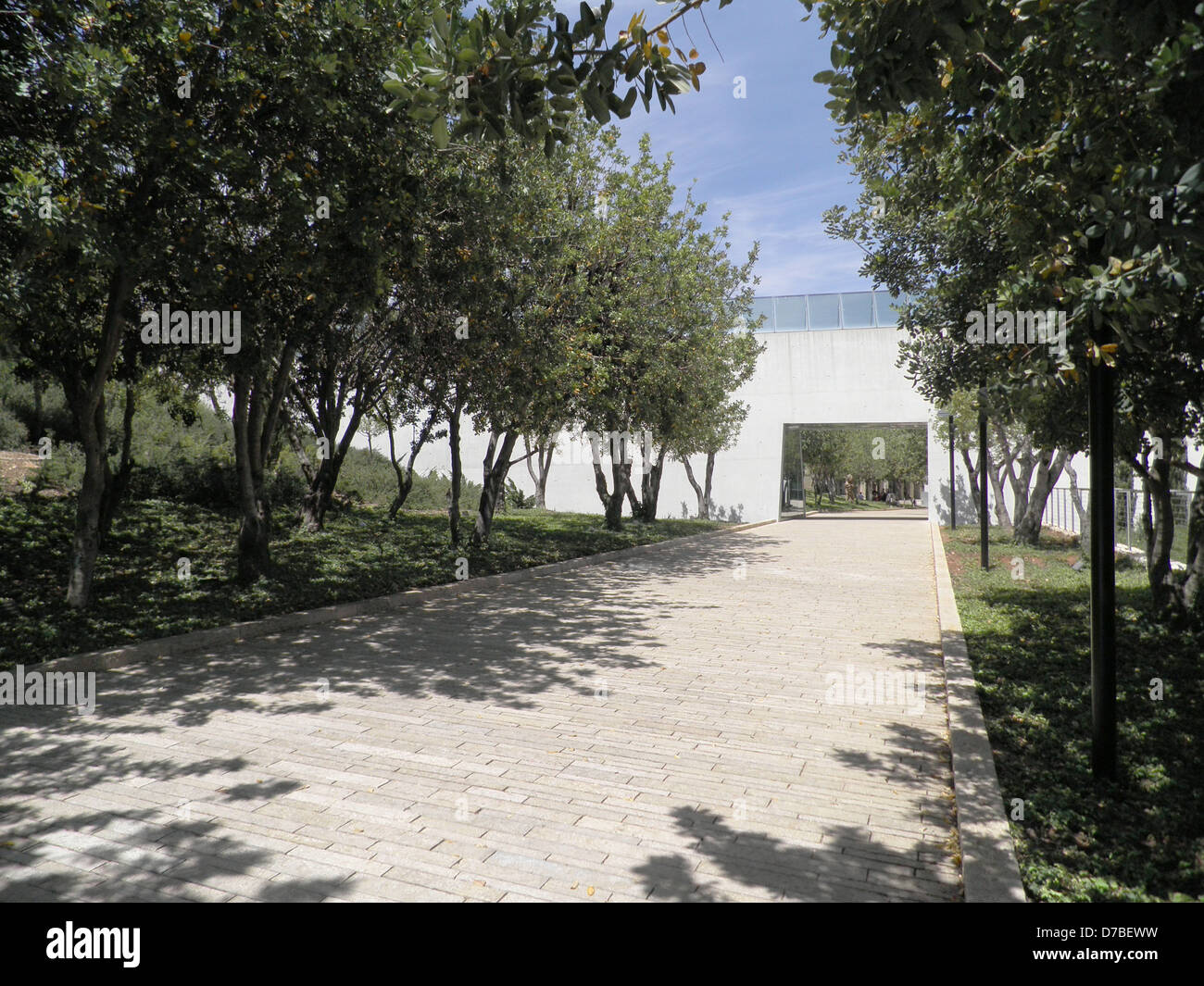 Avenue of the Righteous Among the Nations at Yad Vashem in Jerusalem - Stock Image