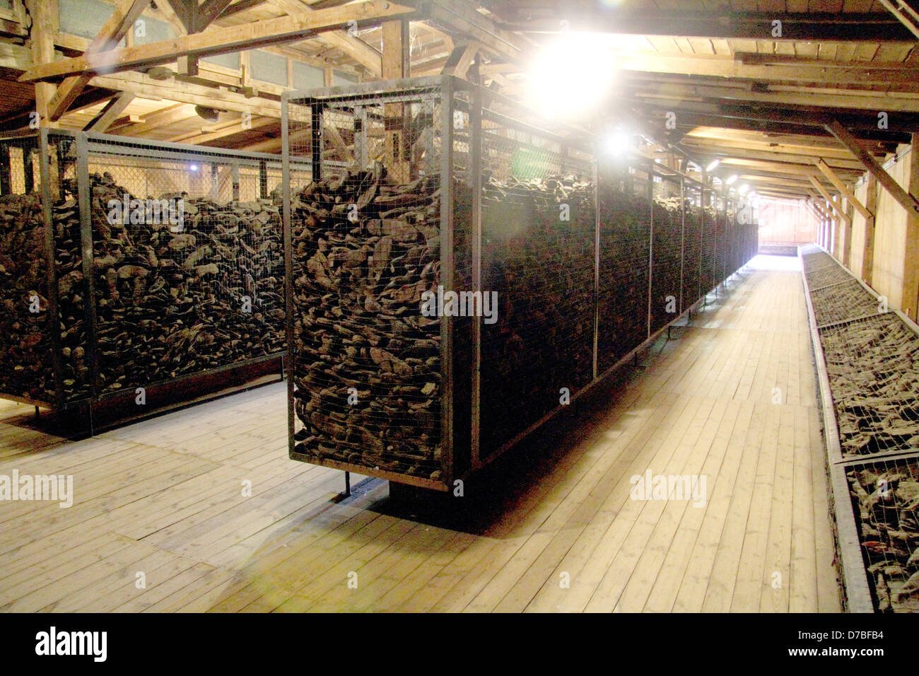 Thousands of shoes (Estimated 50,000 pairs) of the victims at Majdanek death camp - Stock Image