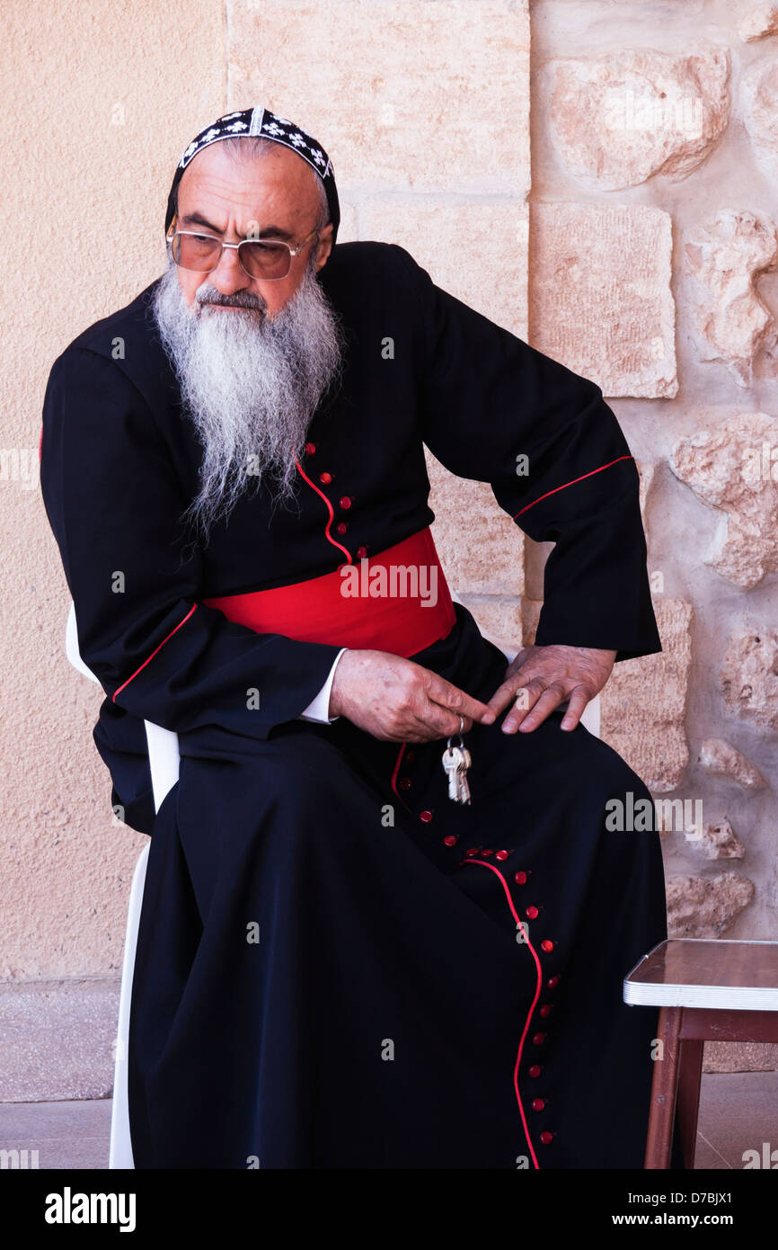 Mor Timotheus Samuel Aktas Metropolitan Archbishop of Tur Abdin. Mor Gabriel Monastery, Eastern Turkey - Stock Image
